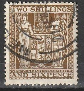 AR48 New Zealand Used Postal-Fiscal Stamp