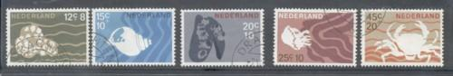 Netherlands Sc B419-23 1967 Charity  Sea Life stamp set used