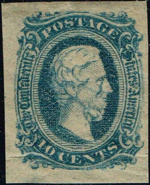 *CSA#12d DARK BLUE 1963-64 10c JEFFERSON DAVIS CSA ISSUE-MINT-OG/NH-WRINKLE