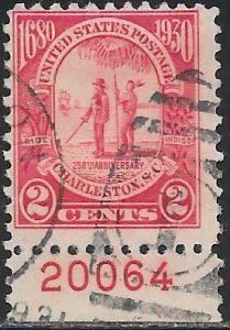 US 683 Used - Carolina-Charleston Issue - Gov. Joseph West and Chief Shadoo
