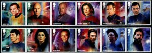 HERRICKSTAMP NEW ISSUES GREAT BRITAIN Star Trek 2020 Strips of 6