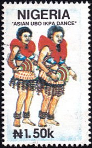 Nigeria # 610 used ~ 1.50n Traditional Dance