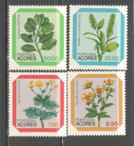 AZORES Sc# 325 - 328 MNH FVF Set of 4 Flowers