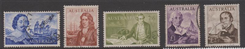 Australia Sc#374-379 Fine Used Set