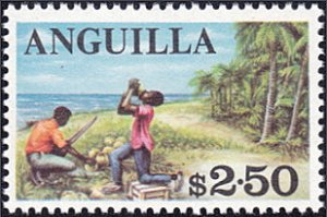 Anguilla # 30 mnh ~ $2.50 Coconut Harvest