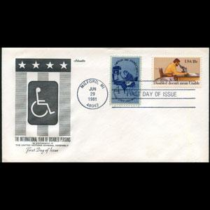 U.S.A. 1981 - FDC-Disabled Year