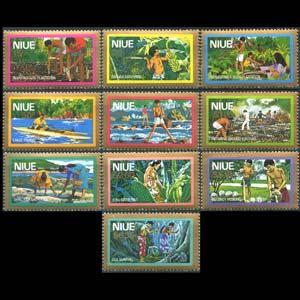 NIUE 1979 - Scott# C1-10 Local Life Set of 10 NH