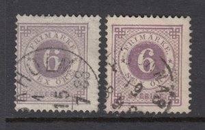 Sweden #31, 31a 6o Perf 13   (USED) Great Color!
