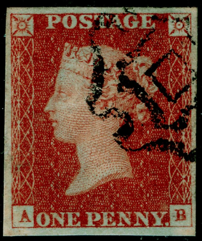 SG8, 1d red-brown PLATE 31, FINE USED. Cat £550. NORWICH MX. 4 MARGINS. AB