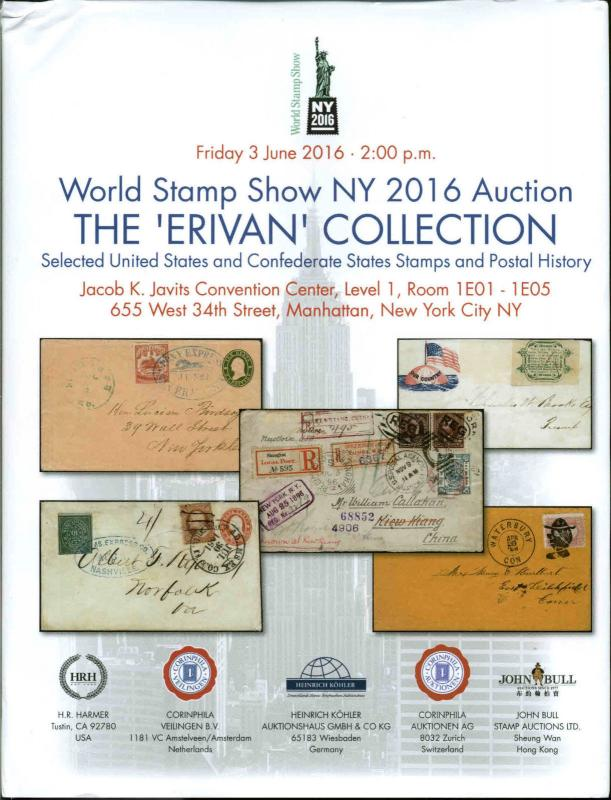 World Stamp Show NY 2016  Auction Catalog-The  'Erivan' Collection