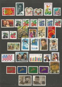 USA Postage Stamps Used (36 stamps)