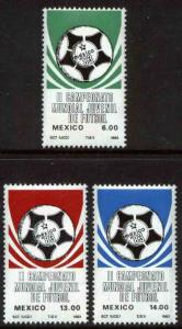 MEXICO 1315-1317 2nd World Youth Soccer Championships MNH