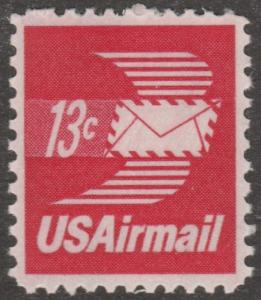 USA stamp, Airmail, Scott# C-79, MNH, flying envelope, red wings, #mao19