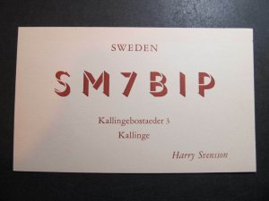 10571 Amateur Radio QSL Card KALLINGE SWEDEN