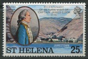 STAMP STATION PERTH St Helena #288 Capt. James Cook 1975 MNH