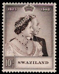 SWAZILAND SG47, 10s purple-brown, VLH MINT. Cat £40. RSW
