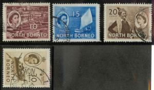 North Borneo 267-270 Used VF