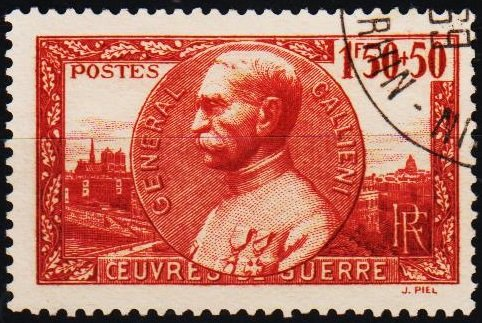 France. 1940 1f50+50c S.G.664 Fine Used