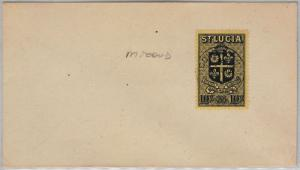 ST LUCIA -  POSTAL HISTORY - COVER with nice postmark: Micoud  HIGH VALUE STAMP