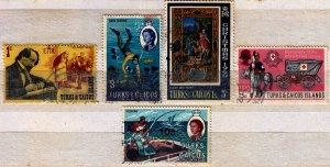 Turks and Caicos - #129,205,209,164,197 - FU - CV$1.40