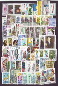 J22667 Jlstamps 1982-5 italy sets and sets of 1 mnh #1531//1629