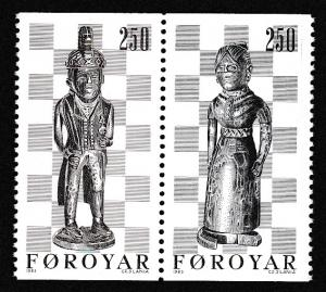 Faroe Is. 19th Century Chess pieces 2v pair SG#81-82 SC#94b pair