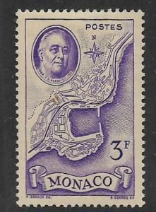 MONACO, 202, MINT HINGED, MAP OF MONACO