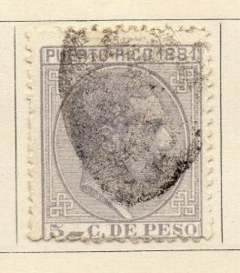Puerto Rico 1881 Early Issue Fine Mint Hinged 3c. NW-07685