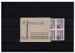Sweden - booklet from 1935 SGSB27 w. 2 panes x 10. CV 140£ (approx $180)