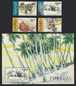 Tokelau Pacific Crabs 4v+MS SG#290-MS294