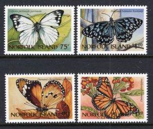 Norfolk Island 617-620 Butterflies MNH VF