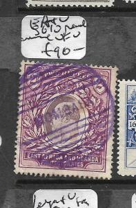 EAST AFRICA AND UGANDA  (P2708B) KE 2R SG 10 PARCEL CANCEL SON VFU
