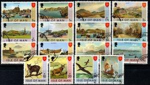 Isle Of Man #12-27 F-VF Used CV $9.75  (X1321)