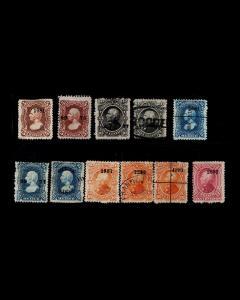 VINTAGE: MEXICO 1874-80 USEDLHHR,OG SCOTT # 106-109,111 $ 41.50 LOT # MEX1874Q