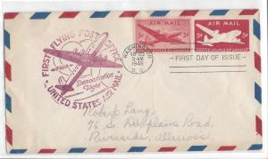 United States, C32-39, 5c DC-4 Skymaster FDC, Used