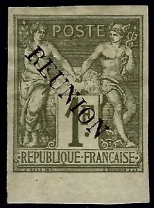 Reunion Sc #16 Unused JUMBO hr SCV$55...French Colonies are Hot!