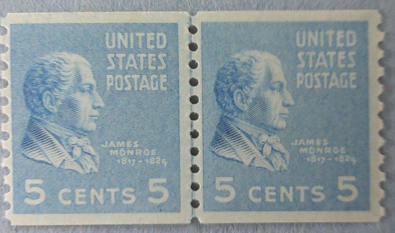 Sc845 Pres J. Monroe line pair F/VF L /H