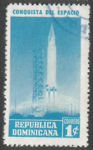 DOMINICAN REPUBLIC 598 VFU SPACE S11-3