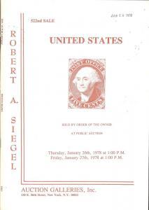 United States, Robert A. Siegel Auction Galleries, Inc. S...