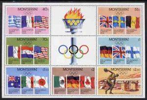 Montserrat 1980 Moscow Olympic Games perf m/sheet opt'd S...
