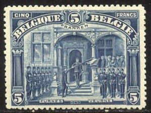BELGIUM #121 Mint - 1915 5fr Deep Blue