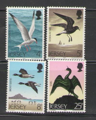 Jersey Sc 129-32 1975 birds stamps mint NH
