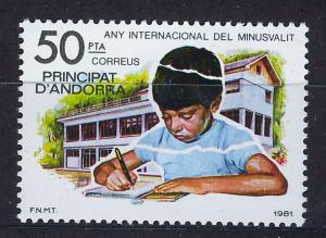 ANDORRA SPANISH 1981 MNH SC.129 Intl.Year of the Disabled