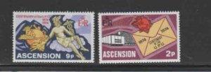 ASCENSION #179-180  1974  UPU CENTEBARY     MINT VF NH  O.G  a
