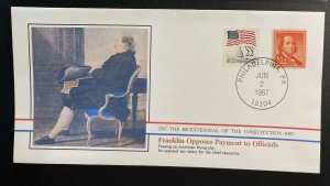 US #1030,2115 Used on Cover - Bicentennial of Constitution 1787-1987 [BIC8]