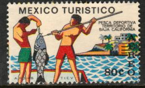 MEXICO C358, TOURISM PROMOTION, SPORT FISHING, BAJA CALIFORNIA. UNUSED, NG. VF