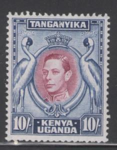 Kenya, Uganda & Tanganyika 1944 King George VI 10s  # 84 MH
