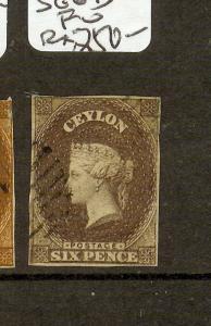 CEYLON (P2209B) QV CHALON  6D  SG6B   FU