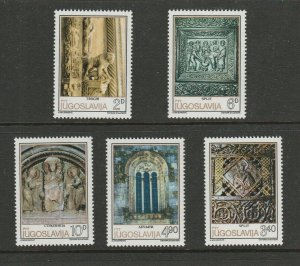 Jugoslavia 1979 Romanesque Sculpture Set Fine Unmounted Mint