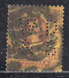 Great Brittain #115a Used PERFINS  ---  C$175,00 - Cork cancel